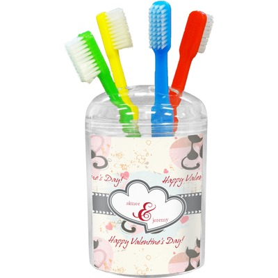 Cats in Love Toothbrush Holder (Personalized)