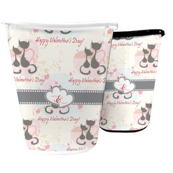 Cats in Love Waste Basket (Personalized)