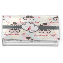 Cats in Love Vinyl Checkbook Cover (Personalized)