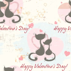 Cats in Love Wallpaper & Surface Covering