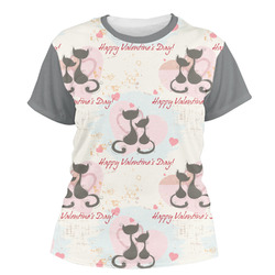 Cats in Love Women's Crew T-Shirt (Personalized)
