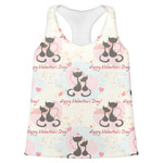 Cats in Love Womens Racerback Tank Top (Personalized)