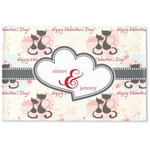 Cats in Love Woven Mat (Personalized)