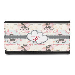 Cats in Love Leatherette Ladies Wallet (Personalized)