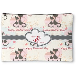 Cats in Love Zipper Pouch (Personalized)