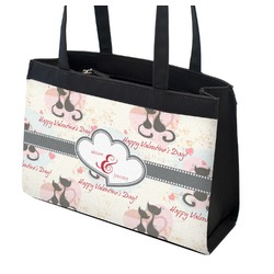 Cats in Love Zippered Everyday Tote (Personalized)