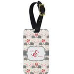 Elephants in Love Aluminum Luggage Tag (Personalized)