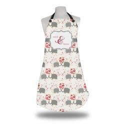 Elephants in Love Apron (Personalized)