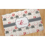 Elephants in Love Area Rug (Personalized)