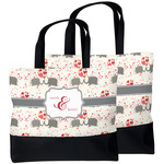 Elephants in Love Beach Tote Bag (Personalized)