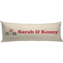 Elephants in Love Body Pillow Case (Personalized)