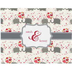 Elephants in Love Placemat (Fabric) (Personalized)