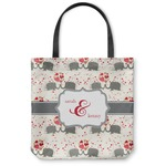Elephants in Love Canvas Tote Bag (Personalized)