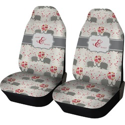 Elephants in Love Car Seat Covers (Set of Two) (Personalized)