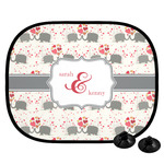 Elephants in Love Car Side Window Sun Shade (Personalized)