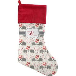 Elephants in Love Christmas Stocking (Personalized)