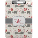 Elephants in Love Clipboard (Personalized)