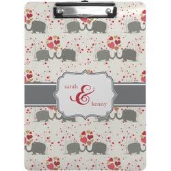 Elephants in Love Clipboard (Personalized)