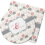 Elephants in Love Rubber Backed Coaster (Personalized)