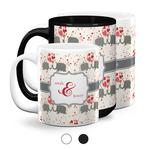 Elephants in Love Coffee Mugs (Personalized)