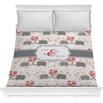 Elephants in Love Comforter (Personalized)