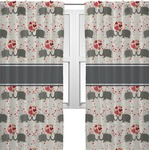 Elephants in Love Curtains (2 Panels Per Set) (Personalized)