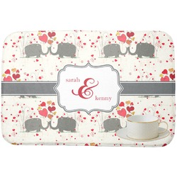Elephants in Love Dish Drying Mat (Personalized)