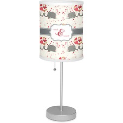 """Elephants in Love 7"""" Drum Lamp with Shade Polyester (Personalized)"""