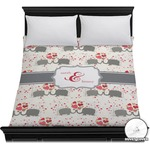 Elephants in Love Duvet Cover (Personalized)