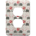 Elephants in Love Electric Outlet Plate (Personalized)