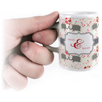 Elephants in Love Espresso Cups (Personalized)