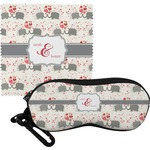 Elephants in Love Eyeglass Case & Cloth (Personalized)
