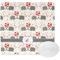 Elephants in Love Wash Cloth (Personalized)