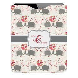 Elephants in Love Genuine Leather iPad Sleeve (Personalized)