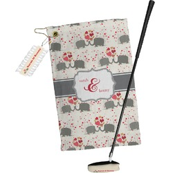 Elephants in Love Golf Towel Gift Set (Personalized)