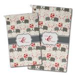 Elephants in Love Golf Towel - Full Print w/ Couple's Names