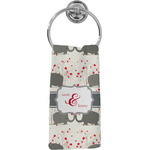 Elephants in Love Hand Towel - Full Print (Personalized)