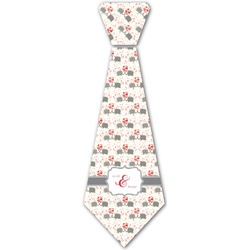 Elephants in Love Iron On Tie (Personalized)