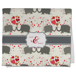 Elephants in Love Kitchen Towel - Full Print (Personalized)