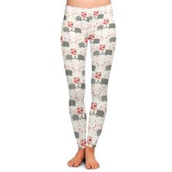 Elephants in Love Ladies Leggings (Personalized)