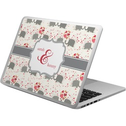 Elephants in Love Laptop Skin - Custom Sized (Personalized)