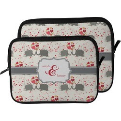 Elephants in Love Laptop Sleeve / Case (Personalized)