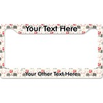 Elephants in Love License Plate Frame (Personalized)
