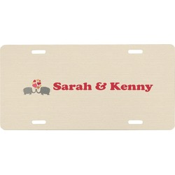 Elephants in Love Front License Plate (Personalized)