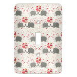 Elephants in Love Light Switch Covers - Multiple Toggle Options Available (Personalized)