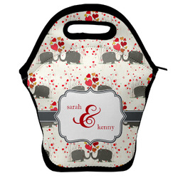 Elephants in Love Lunch Bag w/ Couple's Names