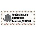 Elephants in Love Return Address Labels (Personalized)