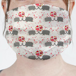 Elephants in Love Face Mask Cover (Personalized)
