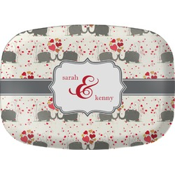 Elephants in Love Melamine Platter (Personalized)