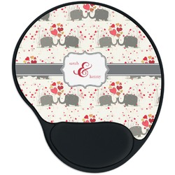 Elephants in Love Mouse Pad with Wrist Support